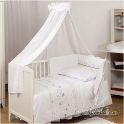 Луксозно бебешко спално бельо с балдахин БИАНКО