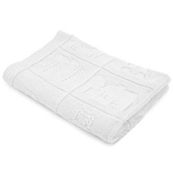 Плетено одеяло бебешко в бяло