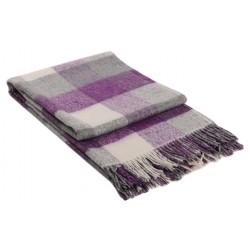 Вълнено одеяло на карета лилаво