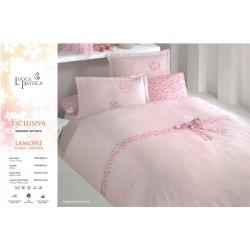 Луксозно спално бельо LAMONE памучен сатен