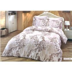 Луксозно спално бельо BONTA BEJ памучен сатен