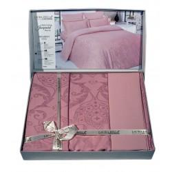 Спално бельо от бамбук сатен на орнаментика Пепел от рози