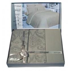 Спално бельо от бамбук сатен на орнаментика ТЮТЮН