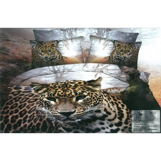 3D Спално бельо Ягуар