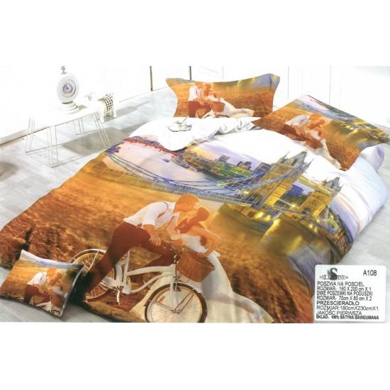 3D Спално бельо Любов в Лондон