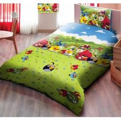 Детско спално бельо от ранфорс Angry Birds