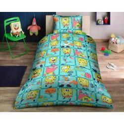 Ранфорс детско спално бельо Sponge Bob