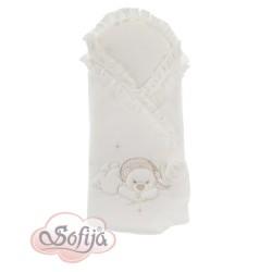 Луксозен порт за бебе от фин памук Анастейша