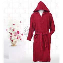 Едноцветен халат в червено Яна
