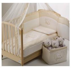 Луксозно бебешко спално бельо Инканто екрю