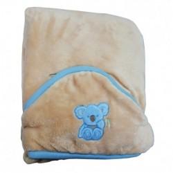 Бебешко одеяло за количка с КОАЛА бежово
