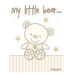 Зимно бебешко одеяло сатен плюш My Little Bear