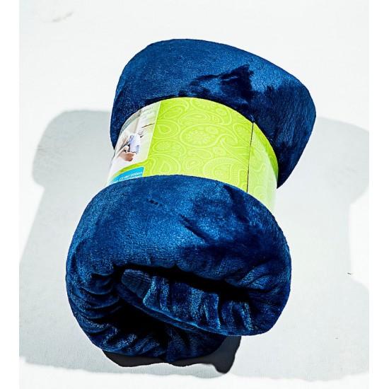 Поларено одеяло Синьо