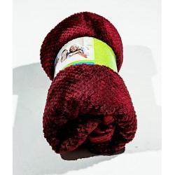Дебело поларено одеяло на вафлички ЧЕРВЕНО