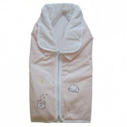 Порт за бебе и одеяло Папи светло розово