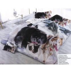 3D спално бельо Хъски