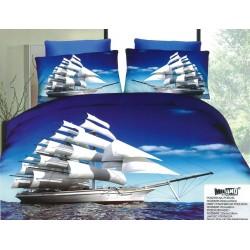 3D спално бельо Кораб