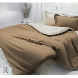 Спално бельо от памучен сатен Кафяво и Бежово