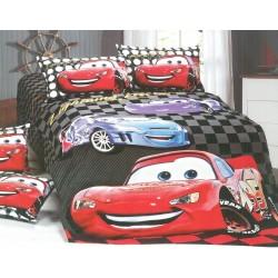 Детско спално бельо от памучен сатен Mcqueen Cars