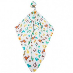 Луксозна бебешка пелена 100% бамбук Птици жълти 120/120