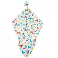 Комплект луксозни бебешки пелени 100% бамбук Птици жълти