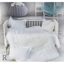 Бебешко спално бельо с бродерия MONKEY бяло