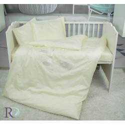 Бебешко спално бельо с бродерия MONKEY екрю