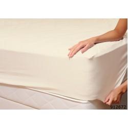 Долен чаршаф с ластик от ранфорс Cream-Ecru
