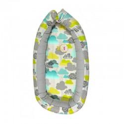 Луксозно бебешко кошче 100% бамбук Облачета сив