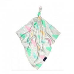Луксозна бебешка пелена 100% бамбук Облачета 120/120 розов