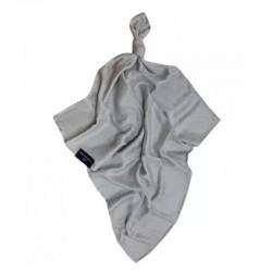 Луксозна бебешка пелена 100% бамбук Облачета 75/75 сив