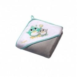 Кърпа за баня от велур с подарък гъба 100/100
