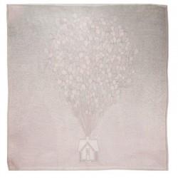 Луксозна бебешка пелена 100% бамбук Балончета 75/75 - розови