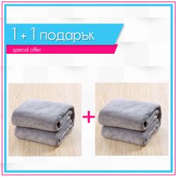 Одеяла 1+1 - сиво
