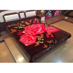 Одеяло щампа Пеперуди и Рози