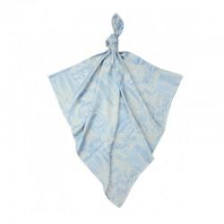 Луксозна бебешка пелена 100% бамбук Балони в небето 75/75 - сини