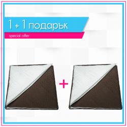 Двулицеви шалтета 1+1  - Шоколад + Капучино