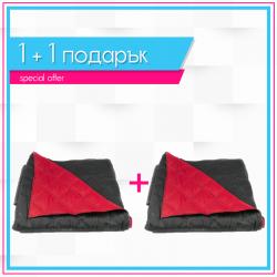 Двулицеви шалтета 1+1 - Черно и червено