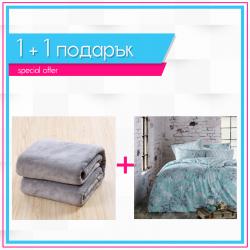 Спално бельо и одеяло 1+1 - Розабела