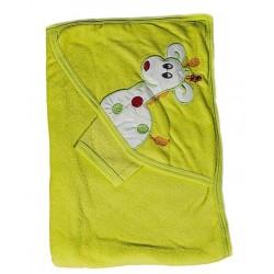 Бебешка хавлийка с жирафче Зелено