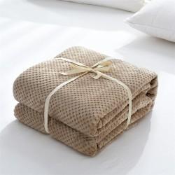 Плътно одеяло на вафлички Coral Fleece