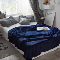 Пухкаво поларено одеяло в Синьо