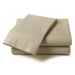 Долен чаршаф от фин памук БЕЖОВ