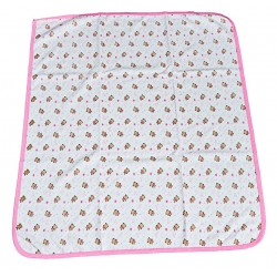 Бебешка пелена с мечета в розово