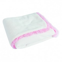 Пухкаво бебешко одеяло Жана бяло
