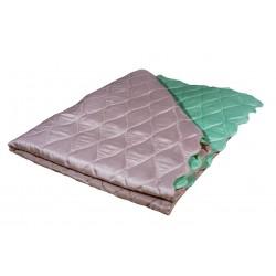 Двулицево шалте от микрофибър Пепел и Зелено
