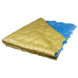 Двулицево шалте от микрофибър Синьо и Жълто