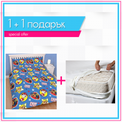 Детско спално бельо и протектор 1+1 - Paw Patrol