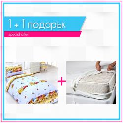Детско спално бельо и протектор 1+1 - Коли
