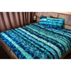 Спално бельо 100% Памук ВОН аква